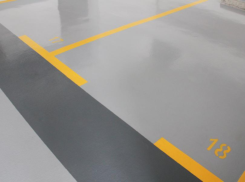 Resin floorings for garages and car parks